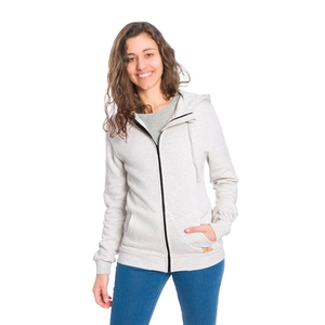Zip-Hoody Modal (TENCEL) Damen Grau - bleed