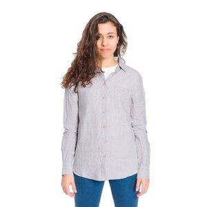 Striped Linen Hemd Damen - bleed