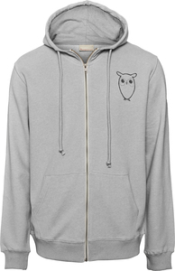 Kapuzenjacke - Zip Hood sweat with owl chest logo - KnowledgeCotton Apparel