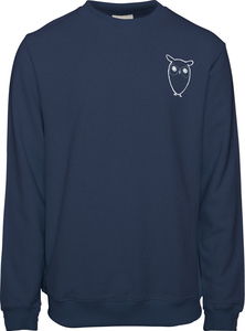 Sweatshirt - Sweat with owl chest logo - KnowledgeCotton Apparel