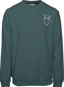 Sweatshirt - Sweat with owl chest logo - KnowledgeCotton Apparel
