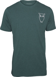 T-Shirt - T-Shirt with Owl Chest Logo - KnowledgeCotton Apparel