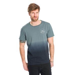 Dip-Dye T-Shirt blau - bleed