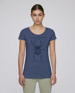 """Araneus diadematus"" in Dark Heather Indigo als Damen-Shirt - faircato"