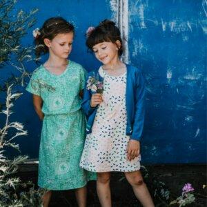 Long dress Daisy grün - Baba Babywear