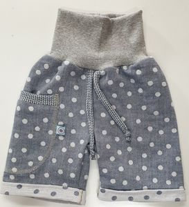 Shorts Jacquard-Musselin jeans-weiß - Omilich