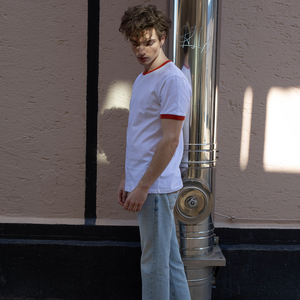 Herren T-Shirt Vintage T. Weiß Bio Fair - ThokkThokk
