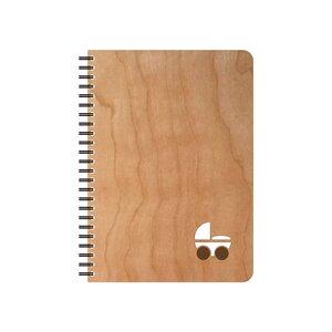 Kinderwaagen Notizblock mit Kirschholzhülle - echtholz
