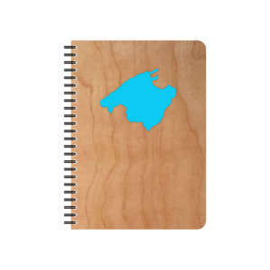 Wiederbefüllbarer Schreibblock Motiv Mallorca - echtholz