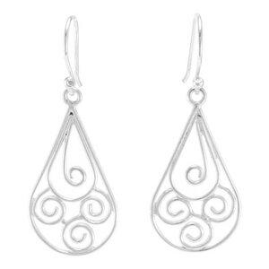Silber Ohrringe Tropfen verspielt Fair-Trade und handmade - pakilia