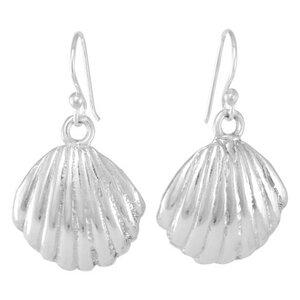 Silber Ohrringe Muschel Fair-Trade und handmade - pakilia