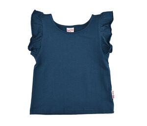 ruffle t-shirt dark blue - Baba Babywear