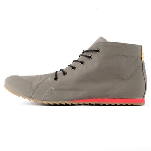 '66 vegane Sneaker aus wasserfester Bio-Baumwolle Grau / Rot - SORBAS