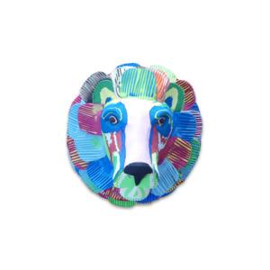 Wallart Löwe - aus FlipFlops - Ocean Sole