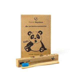 4er Sparset - Bambus Kinder-Zahnbürste - vegan & umweltfreundlich - Planet Bamboo
