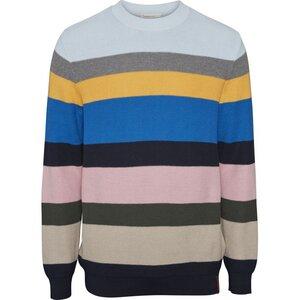 Multi Colored Striped Knit GOTS - KnowledgeCotton Apparel