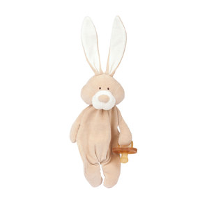 """Schmusetuch """"Bunny"""" mit Schnullerhalter - aus Bio-Baumwolle - Wooly Organic"""