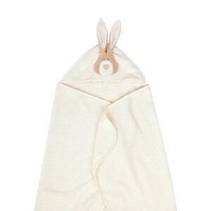 """Großes Badetuch mit Kapuze """"Bunny"""" - aus Bio-Baumwolle - Wooly Organic"""