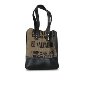 Shopping Bag 'Coffee Shopper' aus Schlauch und Kaffeesack - Uca Ruffatti