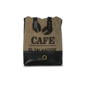 "Shopping Bag ""Coffee Shopper"" aus Schlauch und Kaffeesack - Uca Ruffatti"