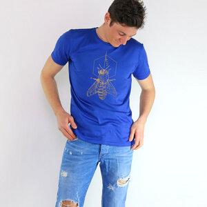 Shirt Biene aus Modal®-Mix Royalblau - Gary Mash