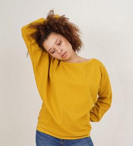 Ripp Pullover verschiedene Farben aus Bio-Baumwolle - Lena Schokolade