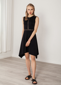 af510184da0b4 Kurzes Kleid schwarz Abendkleid schlicht - SinWeaver alternative fashion