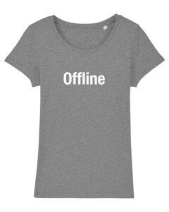 "Damen T-Shirt aus Bio-Baumwolle ""Offline"" - University of Soul"