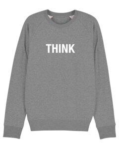"Herren Sweatshirt aus Bio-Baumwolle ""THINK"" - University of Soul"