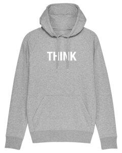 """Herren Hoodie aus Bio-Baumwolle """"THINK"""" - University of Soul"""