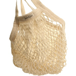 Bio Baumwoll Einkaufsnetz mit kurzem Griff - fesch & fair