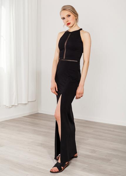 d52c0cbd74206 SinWeaver alternative fashion - Langes Kleid schwarz Abendkleid Viskose  elegant   Avocadostore