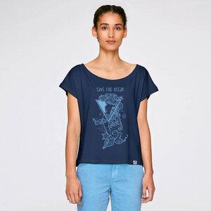 Cropped Shirt Save the Ocean aus Biobaumwolle - Gary Mash