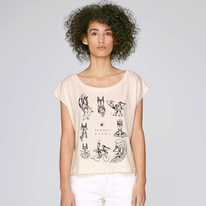 Cropped Shirt Sommerfuchs aus Biobaumwolle - Gary Mash