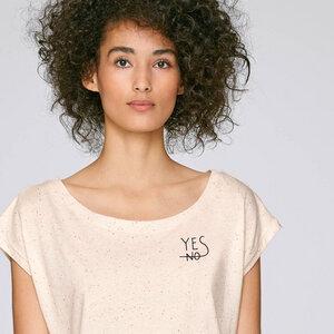 Cropped Shirt Yes aus Biobaumwolle - Gary Mash
