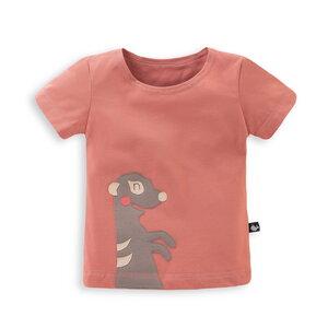 Kinder T-Shirt mit Erdmännchen-Applikation - internaht