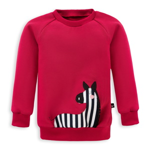 Kinder Sweatshirt Zebra - internaht