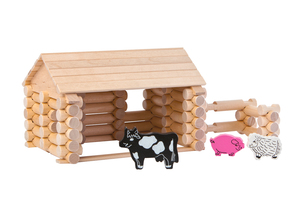 "Holzbaukasten 77 Teile ""Farm mit Tieren"" - Varis Toys"