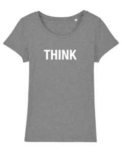 "Damen T-Shirt aus Bio-Baumwolle ""THINK"" - University of Soul"