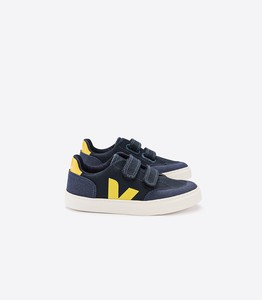 Sneaker Kinder - V-12 KIDS CANVAS - NAUTICO GOLD YELLOW - Veja
