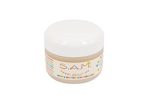 S.A.M. Wind & Wetter Schutzbalsam mit Bio-Mandelöl, parfümfrei - 50ml - S.A.M.
