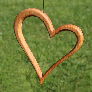 Fensterdeko - Herz aus Holz - Mitienda Shop