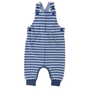 Baby Latzhose blau u. rot geringelt Bio People Wear Organic - People Wear Organic
