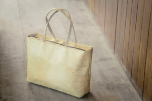 Shopper, Tasche aus Blättern, handgefertigt und vegan (Nature) - BY COPALA