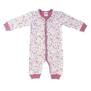 Baby Overall rosa u. blau bedruckt Bio People Wear Organic - People Wear Organic