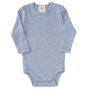 Baby u. Kinder LA Wickelbody Seide blau melange Bio People Wear Organic - People Wear Organic