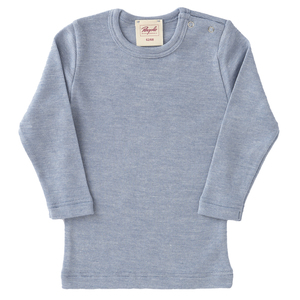 Baby LA Shirt Seide blau melange Bio People Wear Organic - People Wear Organic