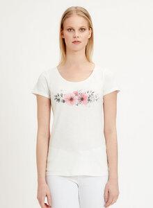 T-Shirt aus Bio-Baumwolle mit Blumen-Print - ORGANICATION