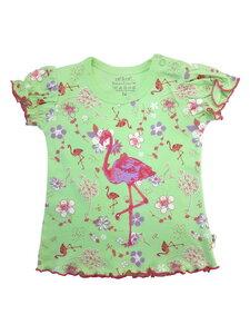 Baby T-Shirt grün allover Bio Baumwolle EBi & EBi 3 - EBi & EBi