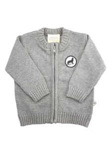 Baby Strickjacke grau Fairtrade EBi & EBi - EBi & EBi